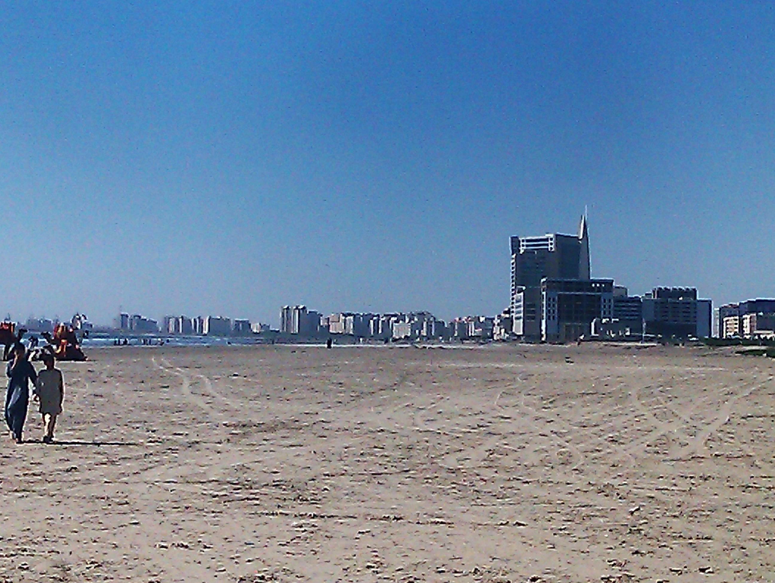 File:DolmenCity Tower Karachi skyline from Clifton Beach jpg