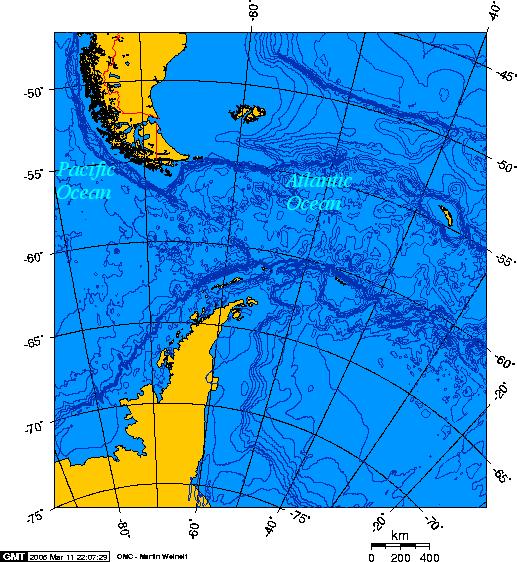 Image:Drake Passage - Lambert Azimuthal projection