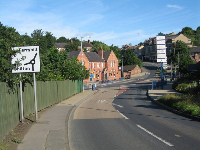An image of Ferryhill in County Durham.