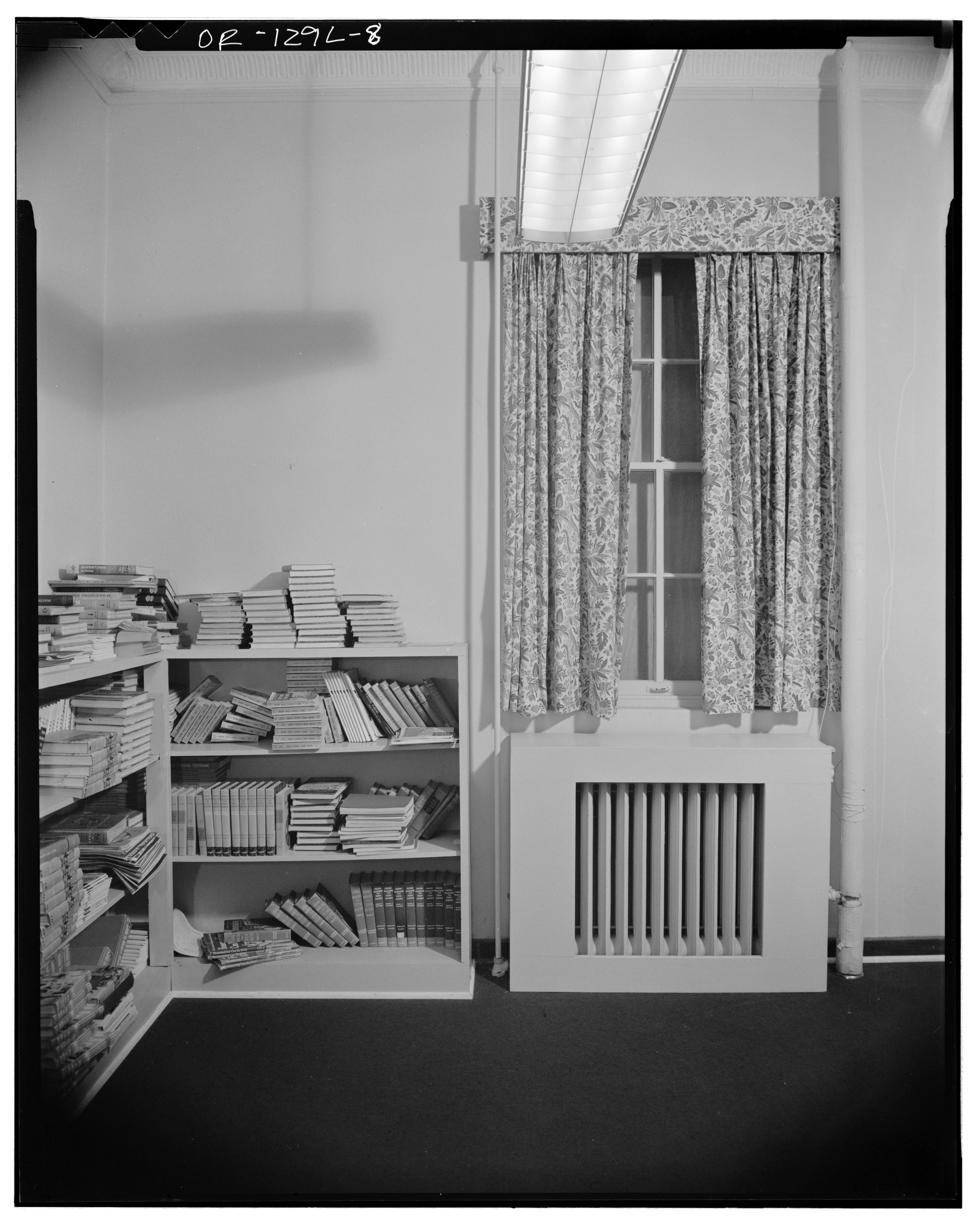 File 5495 Chugath Street Interior View Of Window And Bookcase Chemawa