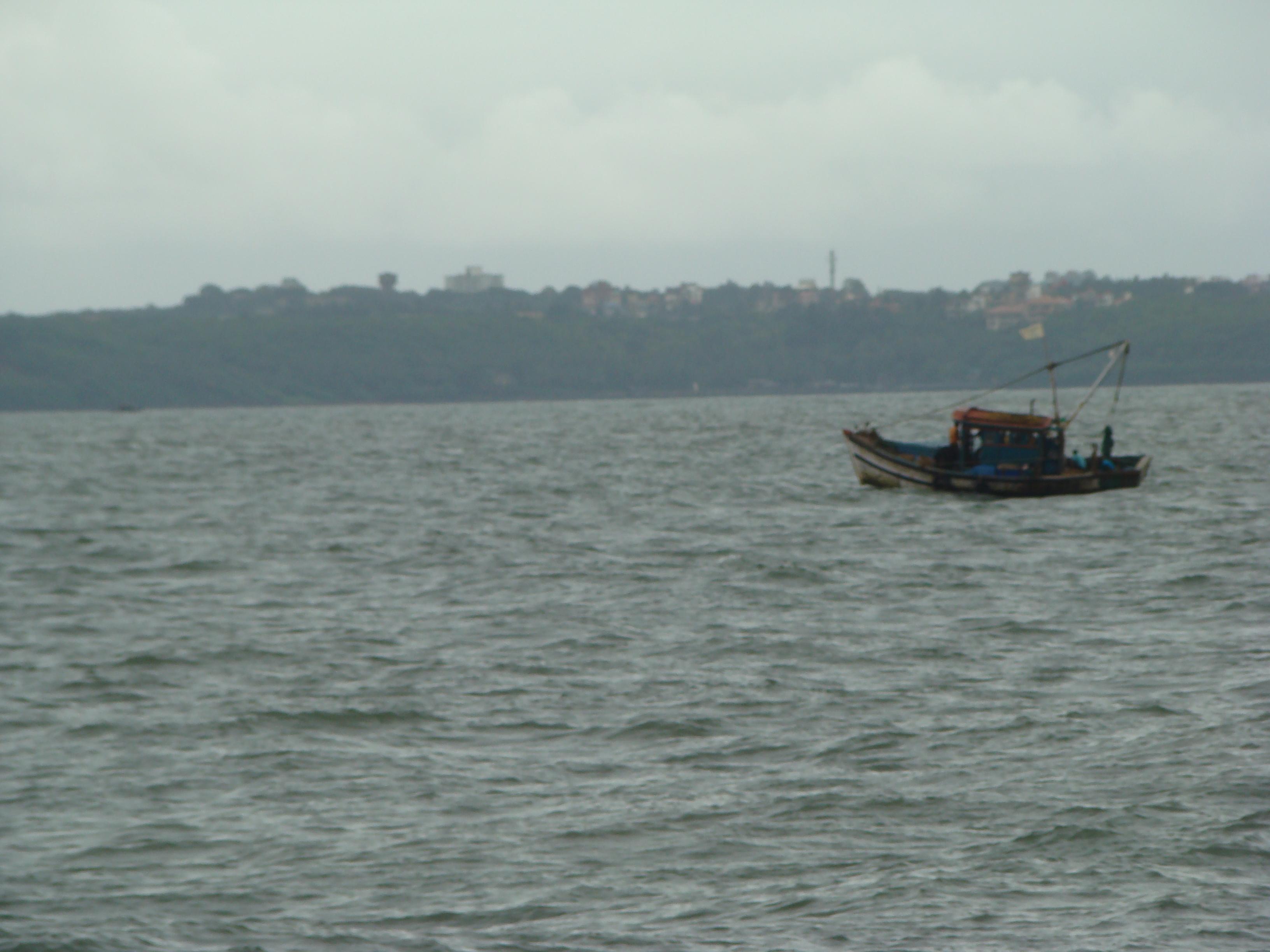 Fishing boat at sea for Sea fishing boats