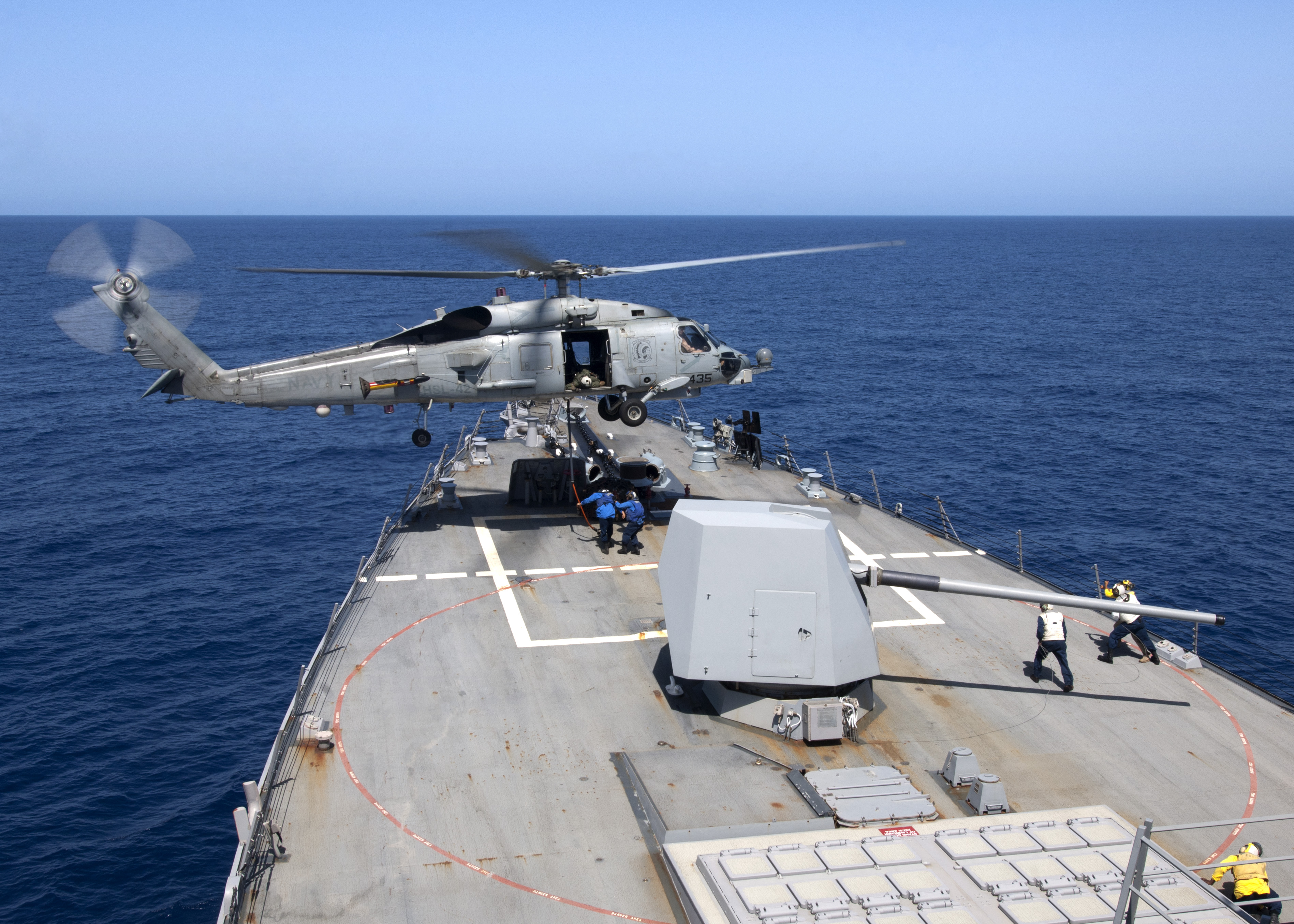 US Navy – Sea Hawk Vertical Replenishment – Guided-Missile Destroyer USS James E. Williams (DDG 95)