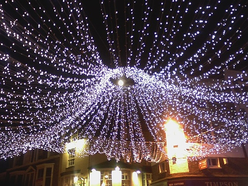 File:Full moon through Christmas lights in January - geograph.org ...