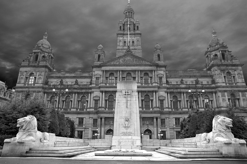 Fileglasgow city chambers scotland black and white jpg