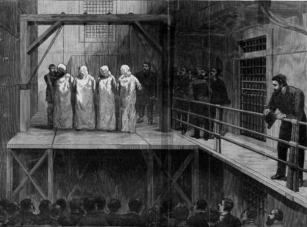 death of the haymarket In 1886, a jury convicted lingg and sentenced him to death, along with the other haymarket defendants on november 6, 1887 , less than one week before his scheduled execution, four bombs were found in lingg's cell.