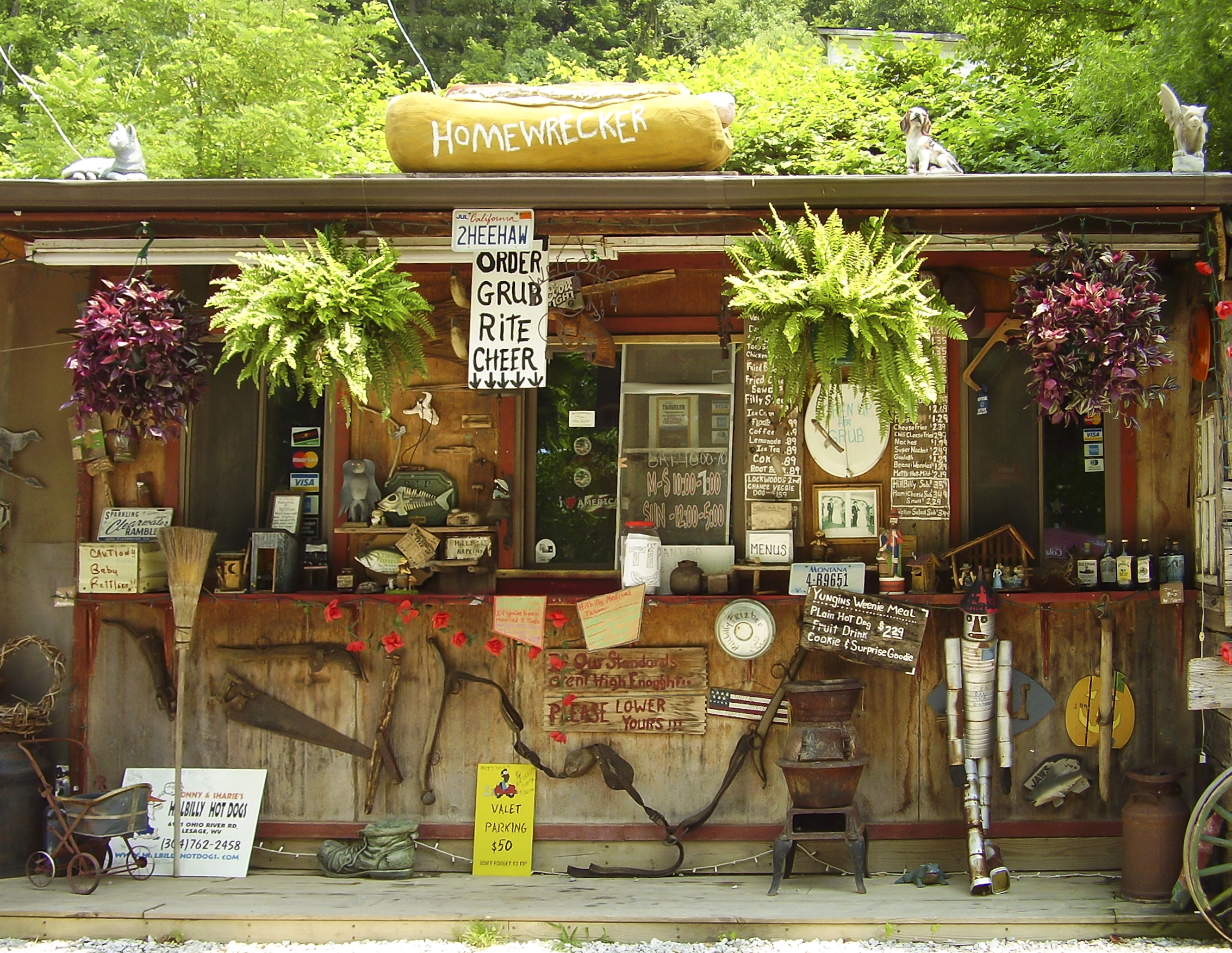 Hillbilly Hot Dogs, a roadside hot dog stand located near Huntington, West Virginia.