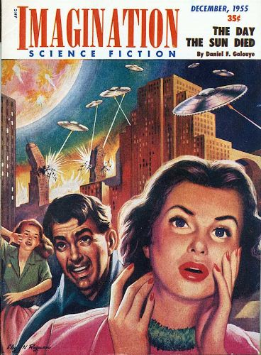 "Galouye's novella ""The Day the Sun Died"" was the cover story for the December 1955 issue of Imagination Imagination 195512.jpg"