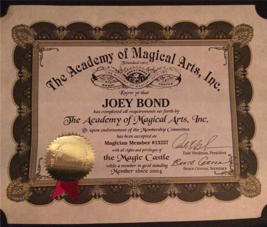Filejoey Bond Magician Magic Castle Certificationg Wikimedia