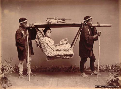Kusakabe Kimbei - 49. Kago, Travelling Chair.jpg