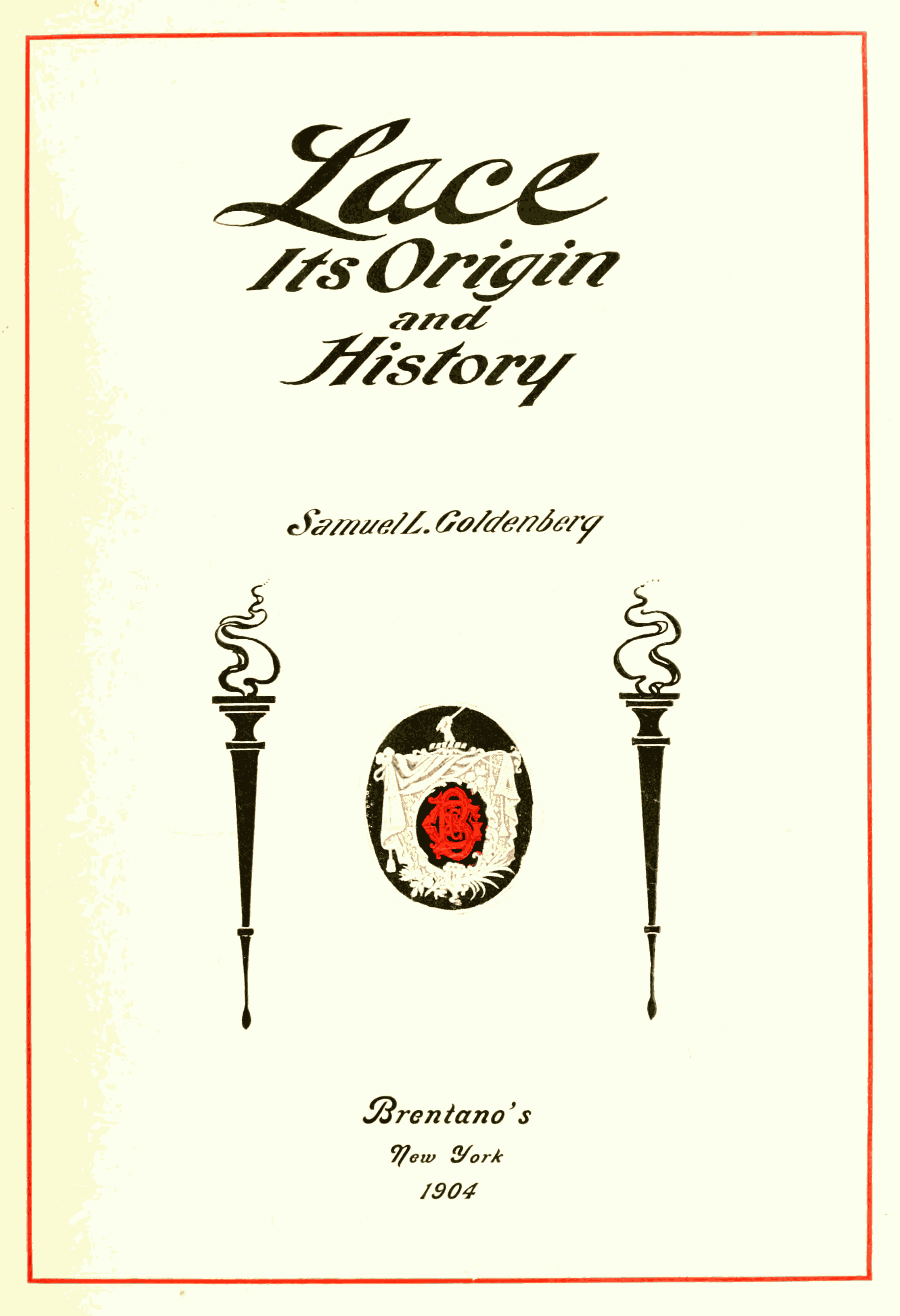file lace its origin and history title page png file lace its origin and history title page png