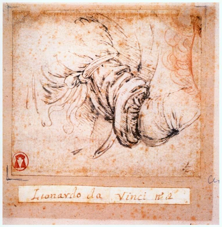 File:Leonardo da vinci, Sleeve study for the Annunciation ...