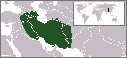 The Safavid Empire at its 1512 (beginning) borders.