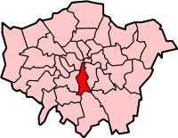 Lambeth London, map