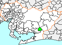 Location of Ichinomiya in Aichi Prefecture