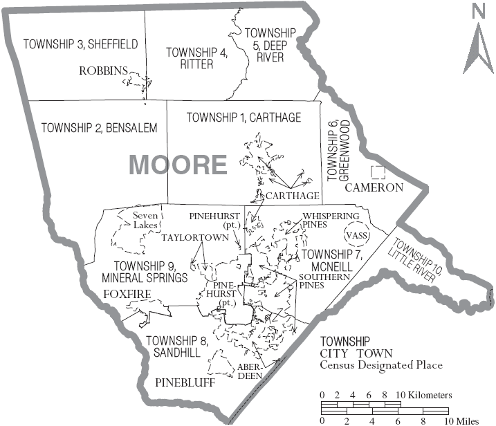 File:Map of Moore County North Carolina With Municipal and