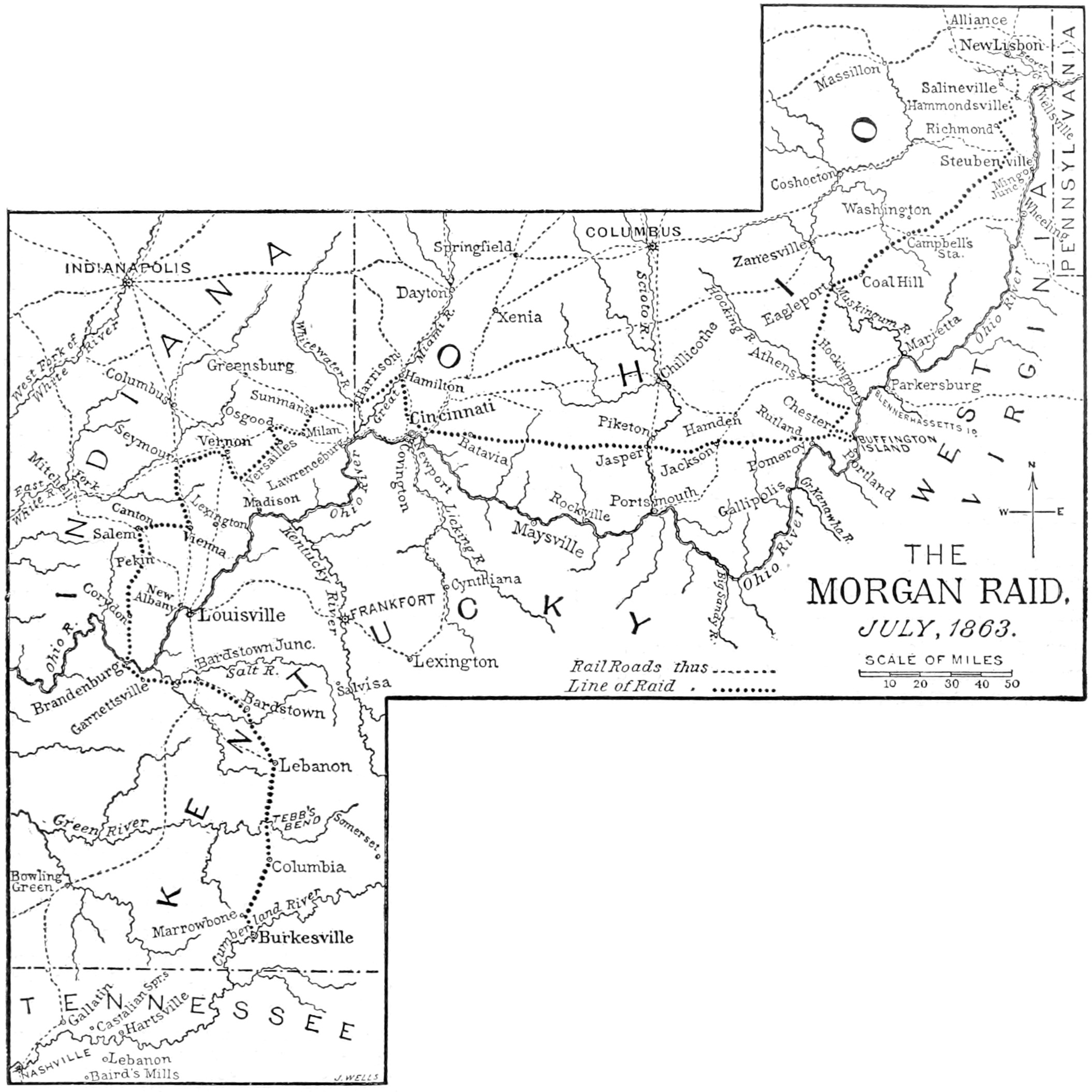 File Map Of Morgan S Raid Jpg Wikimedia Commons