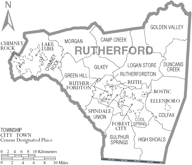 File:Map of Rutherford County North Carolina With Municipal and
