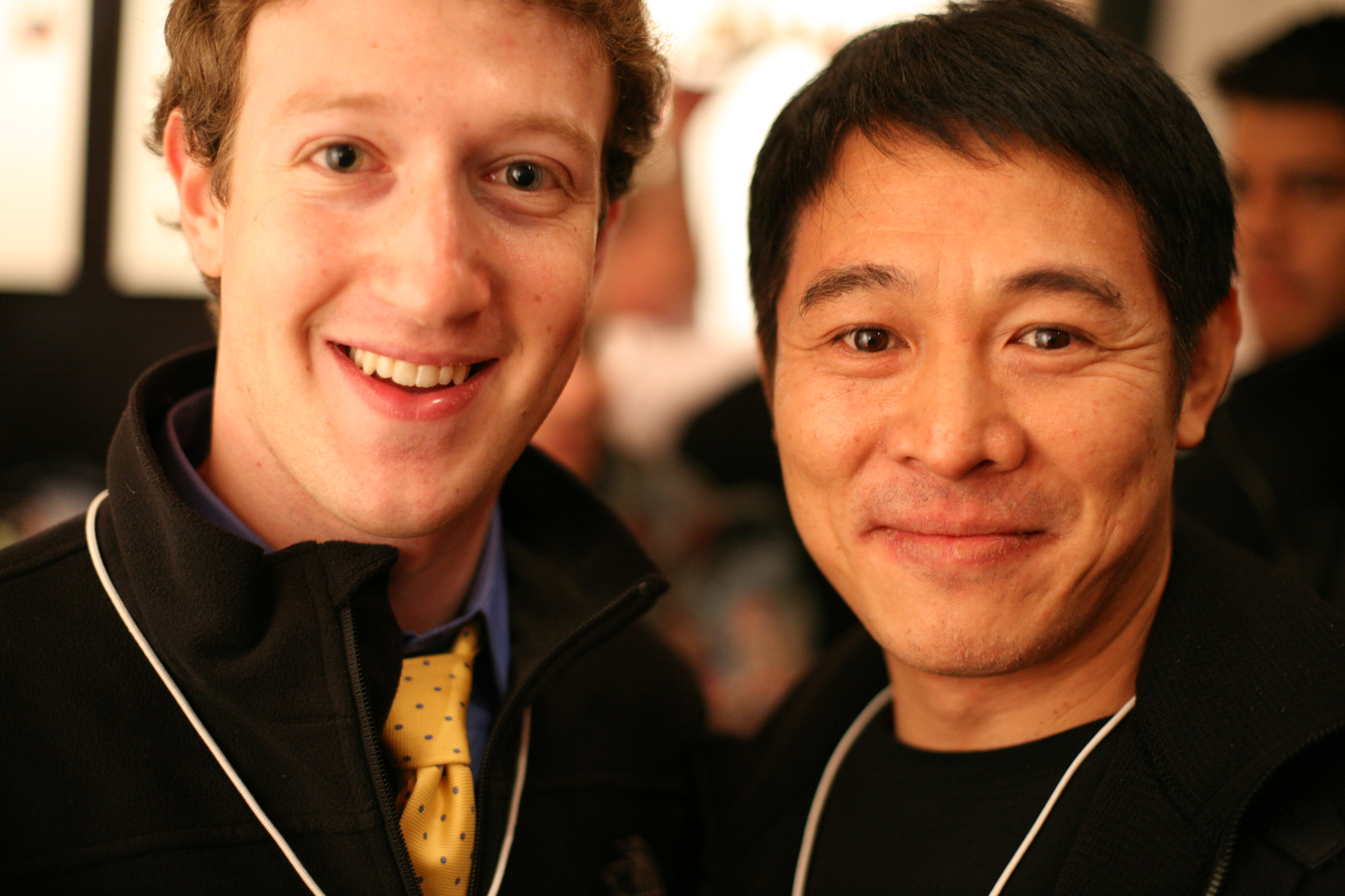 File:Mark Zuckerberg, founder Facebook, and Jet Li, famous martial