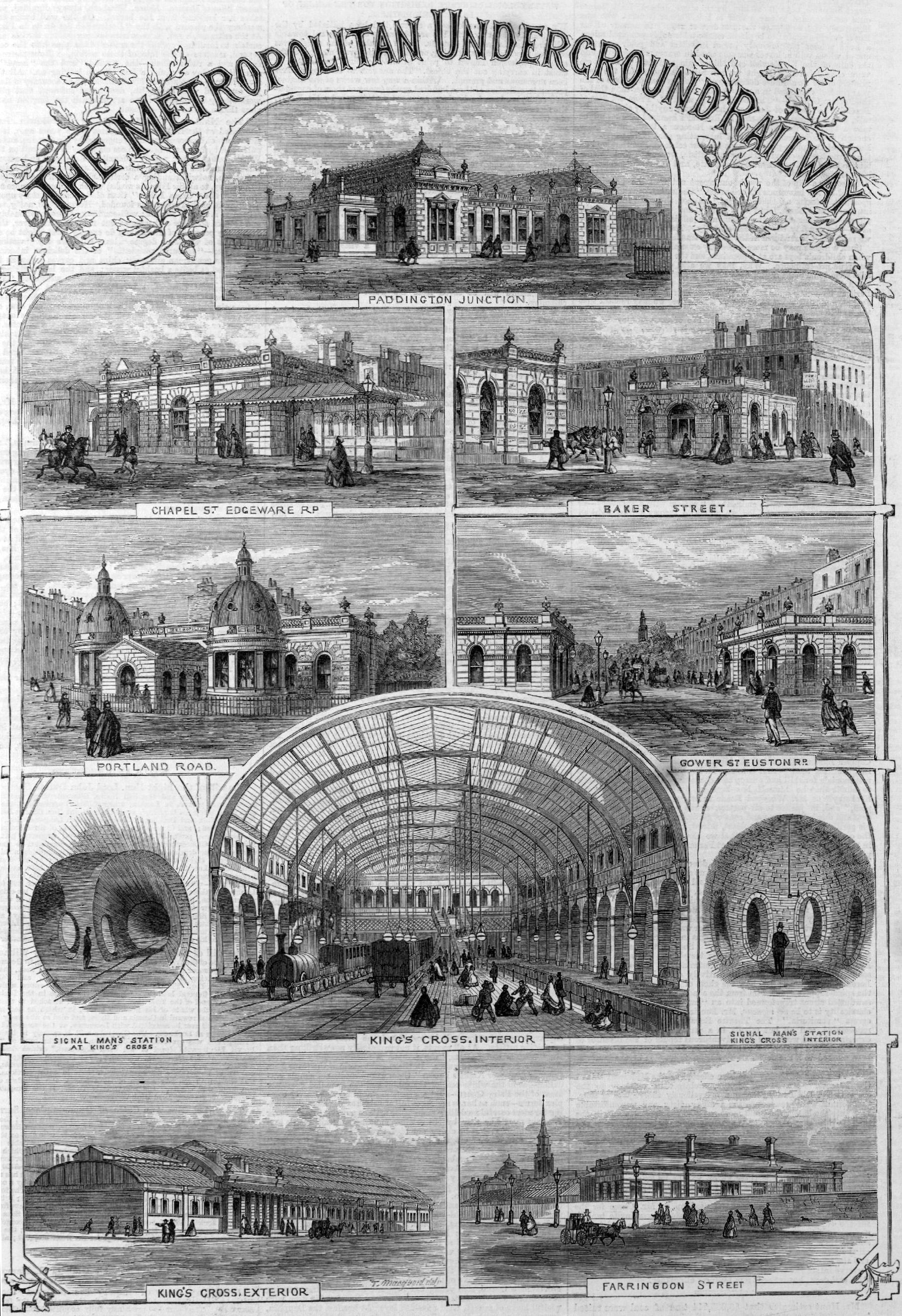 Underground railroad stations