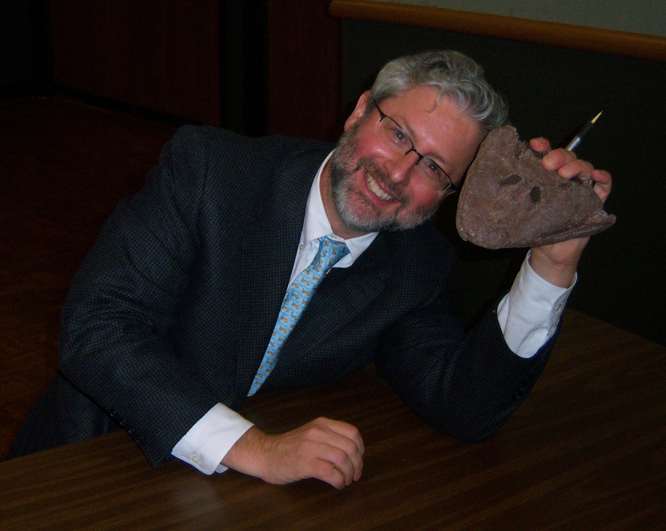 Neil Shubin after speaking at the [[University of Tulsa]]