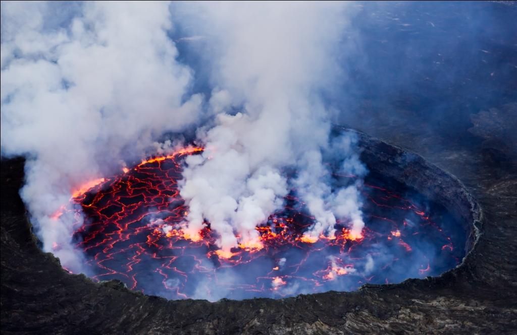 Mt. Nyiragongo volcano