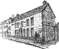 Sketch of the early Black Boy Inn.