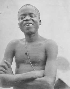 Ota Benga, at the 1904 St. Louis World's Fair,...