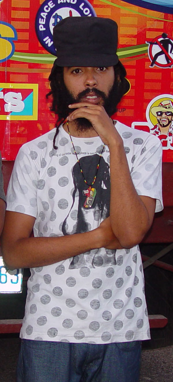 English: Protoje on the Irie Fm road show in M...