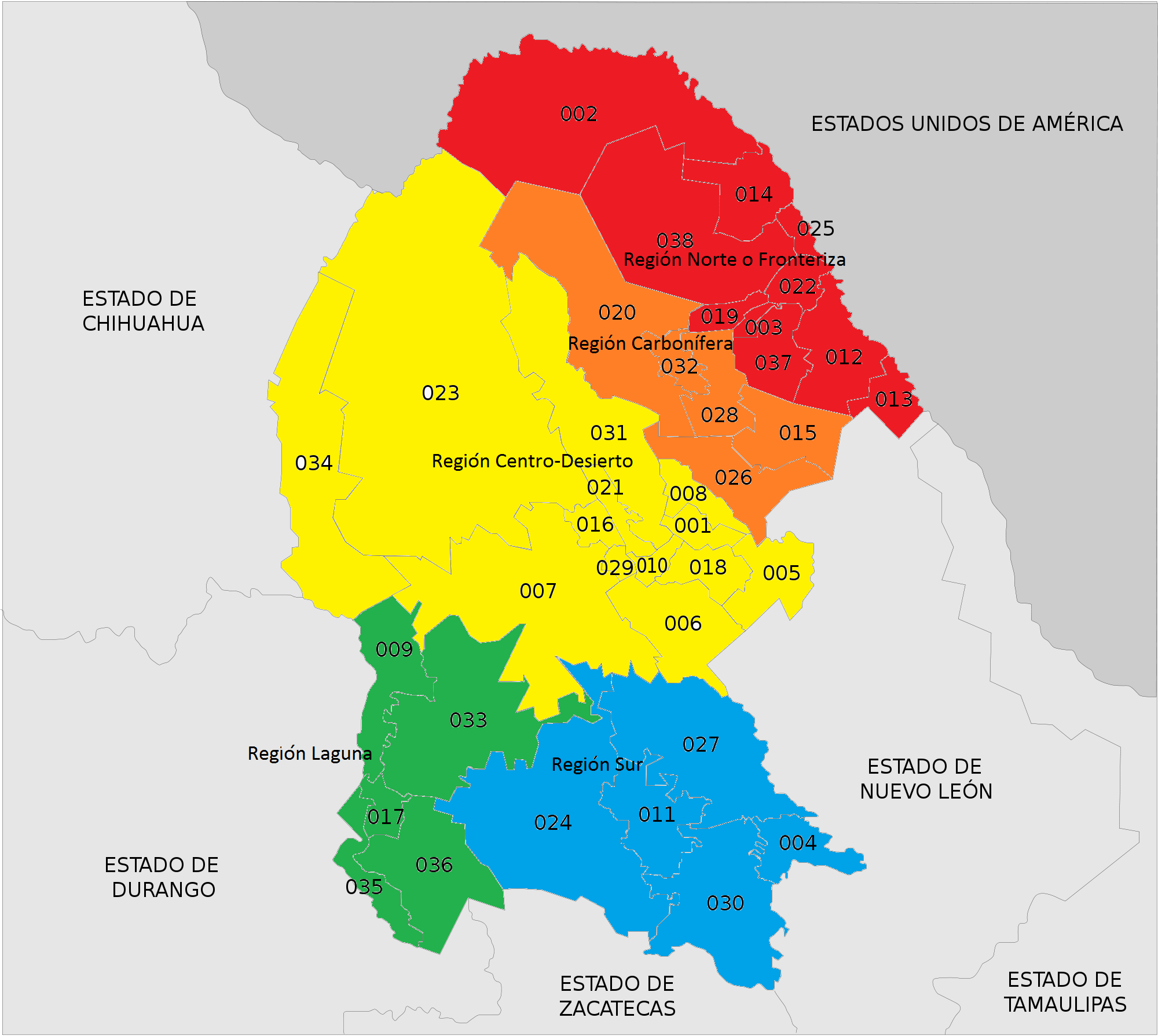 Monclova Mexico Map.Coal Mining In Mexico Wikipedia