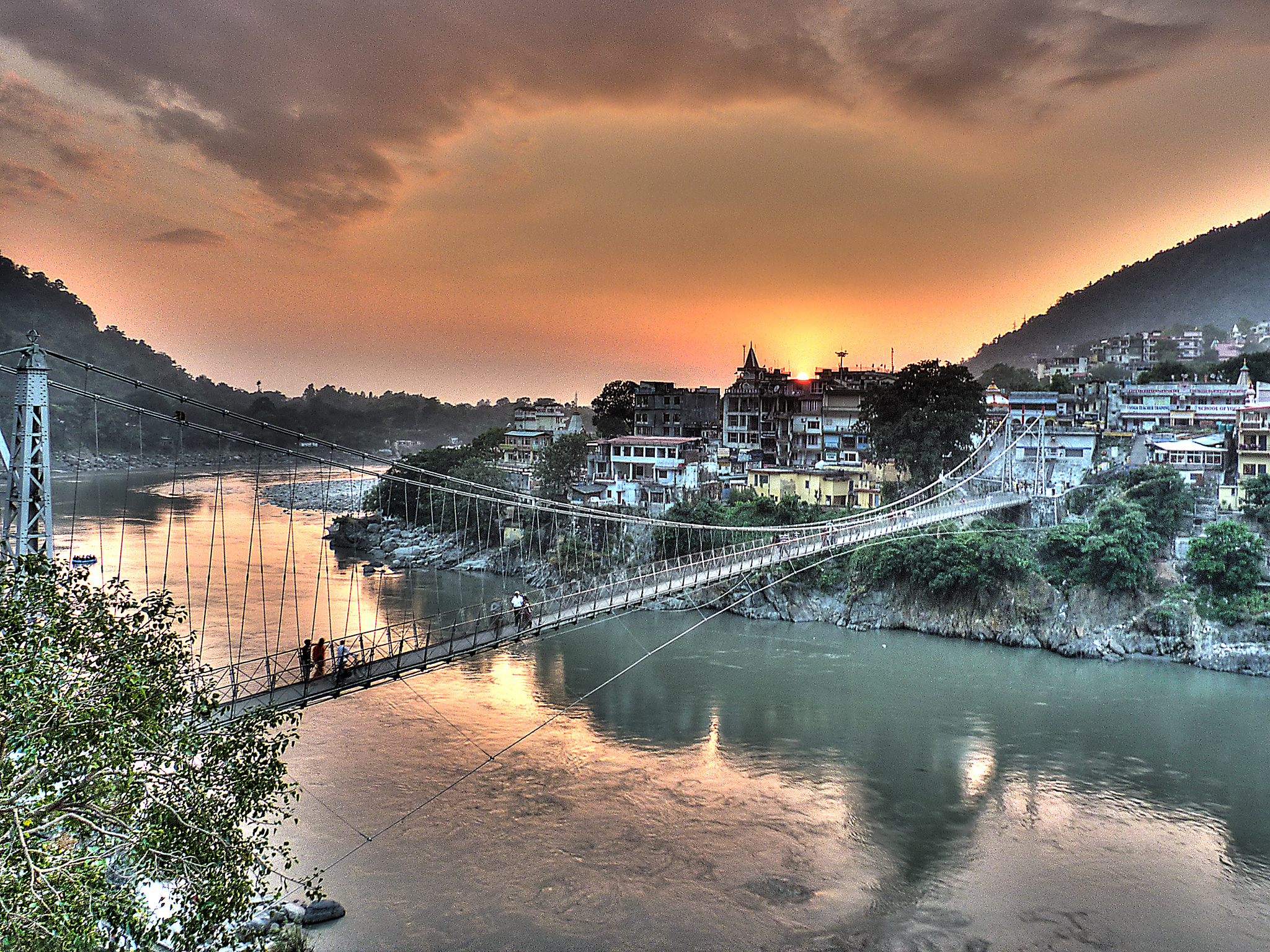 View of Laksham Jhula