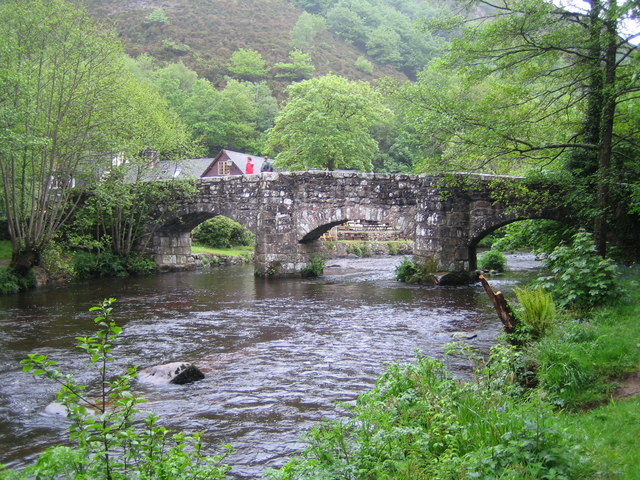 River Teign, Fingle Bridge - geograph.org.uk - 438994