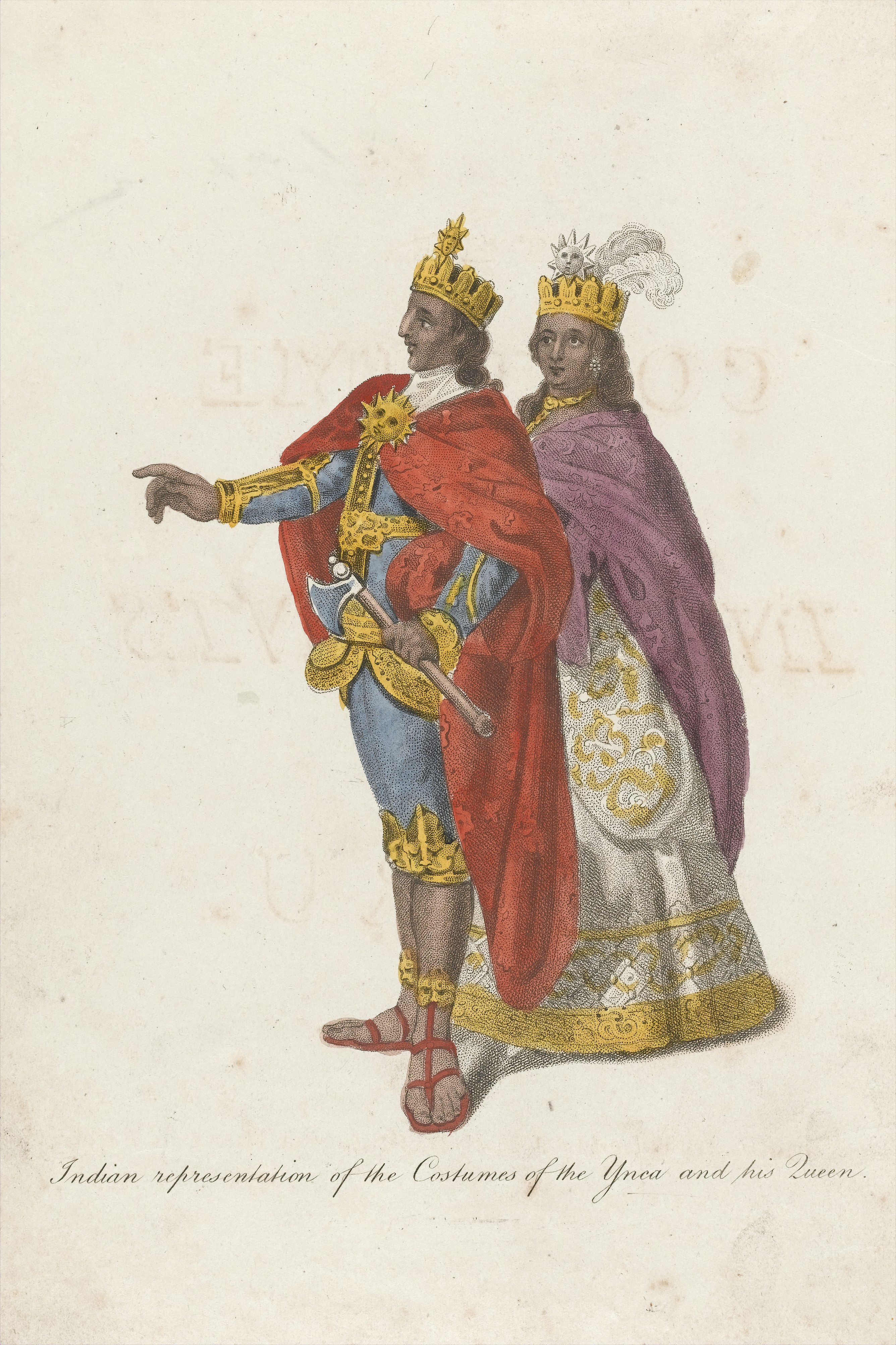 FileRrepresentations of the costumes of the Inca and his Queen Wellcome L0042046
