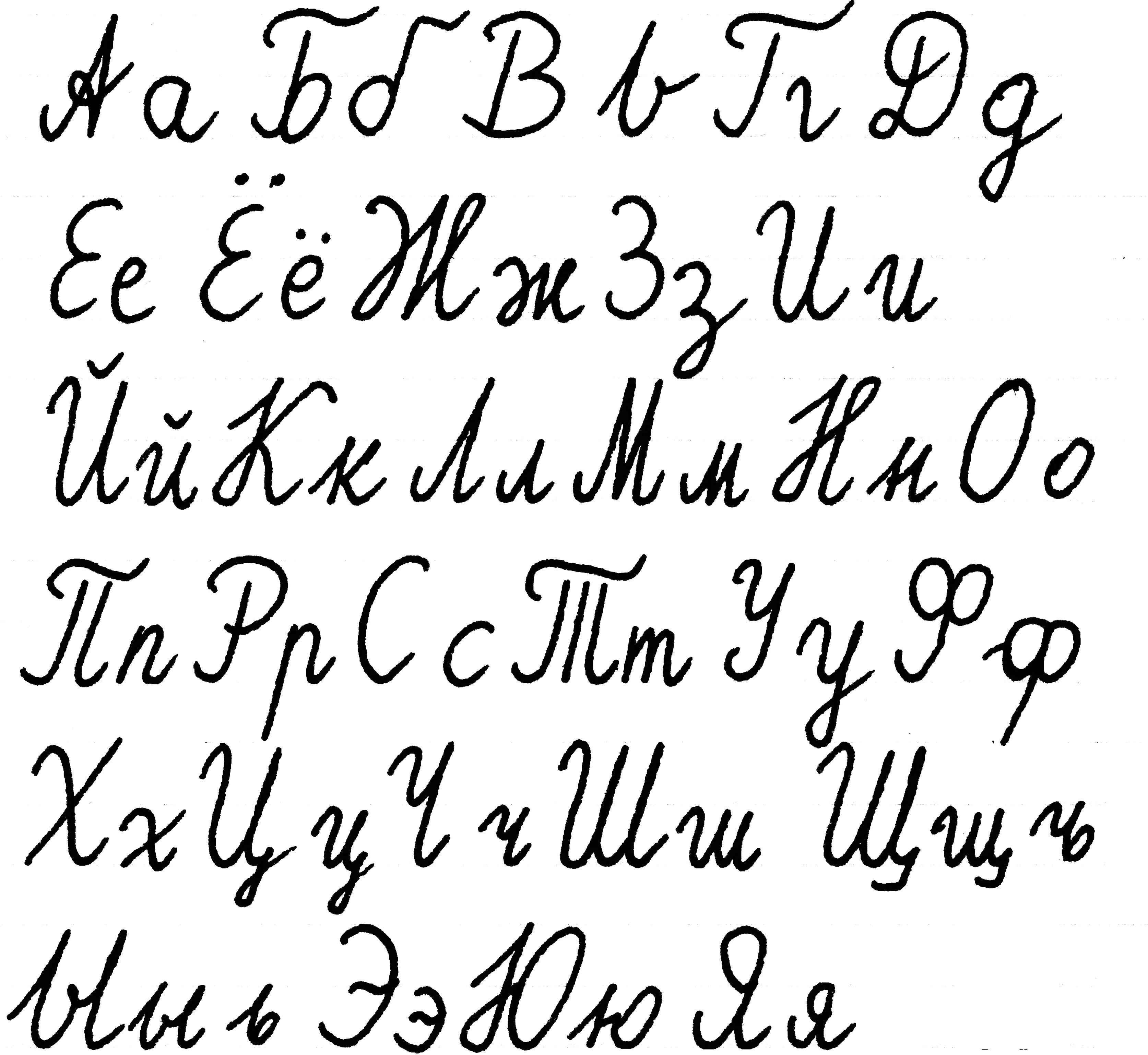 Cursive Letter Alphabet Chart