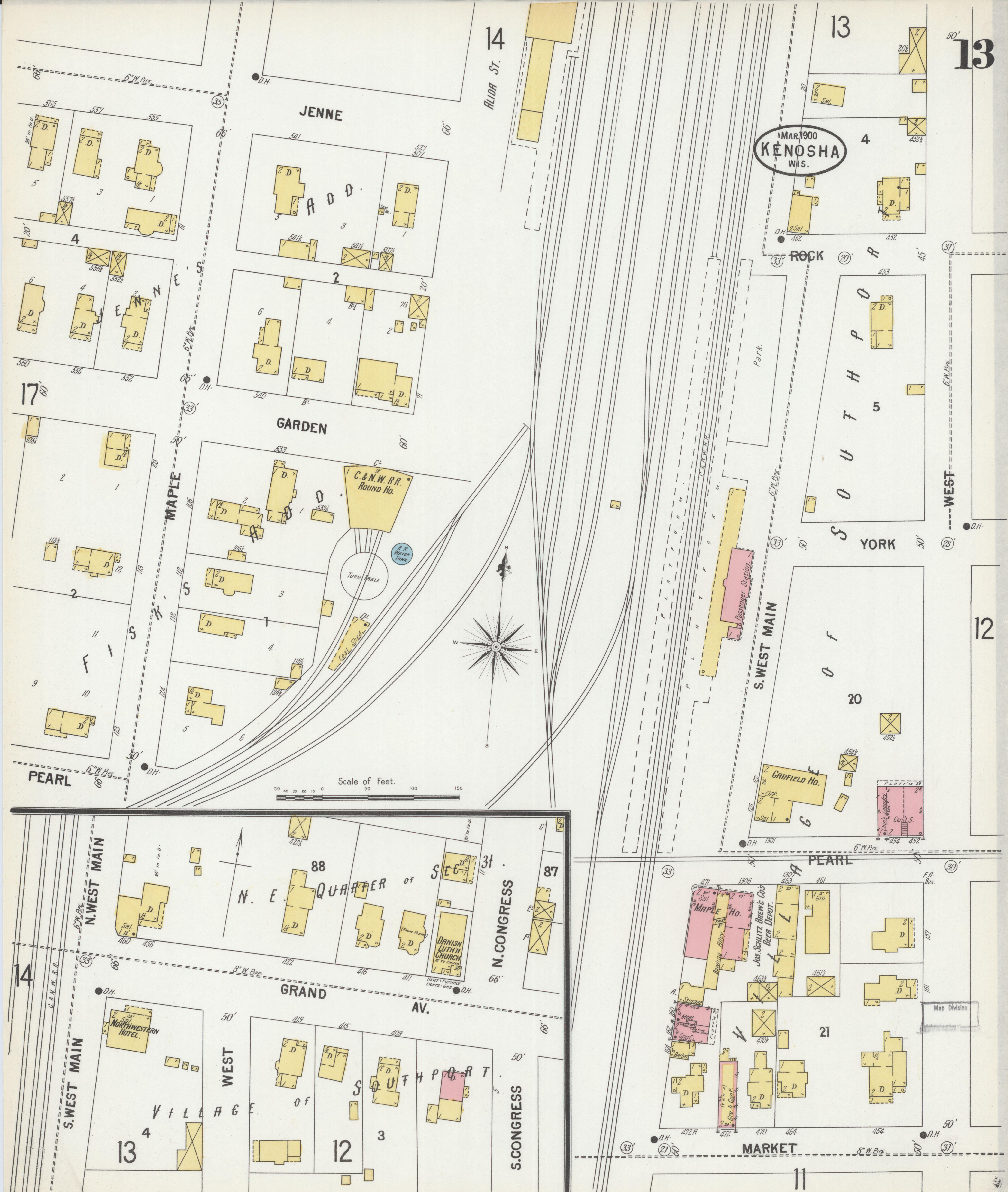 File Sanborn Fire Insurance Map from Kenosha Kenosha County