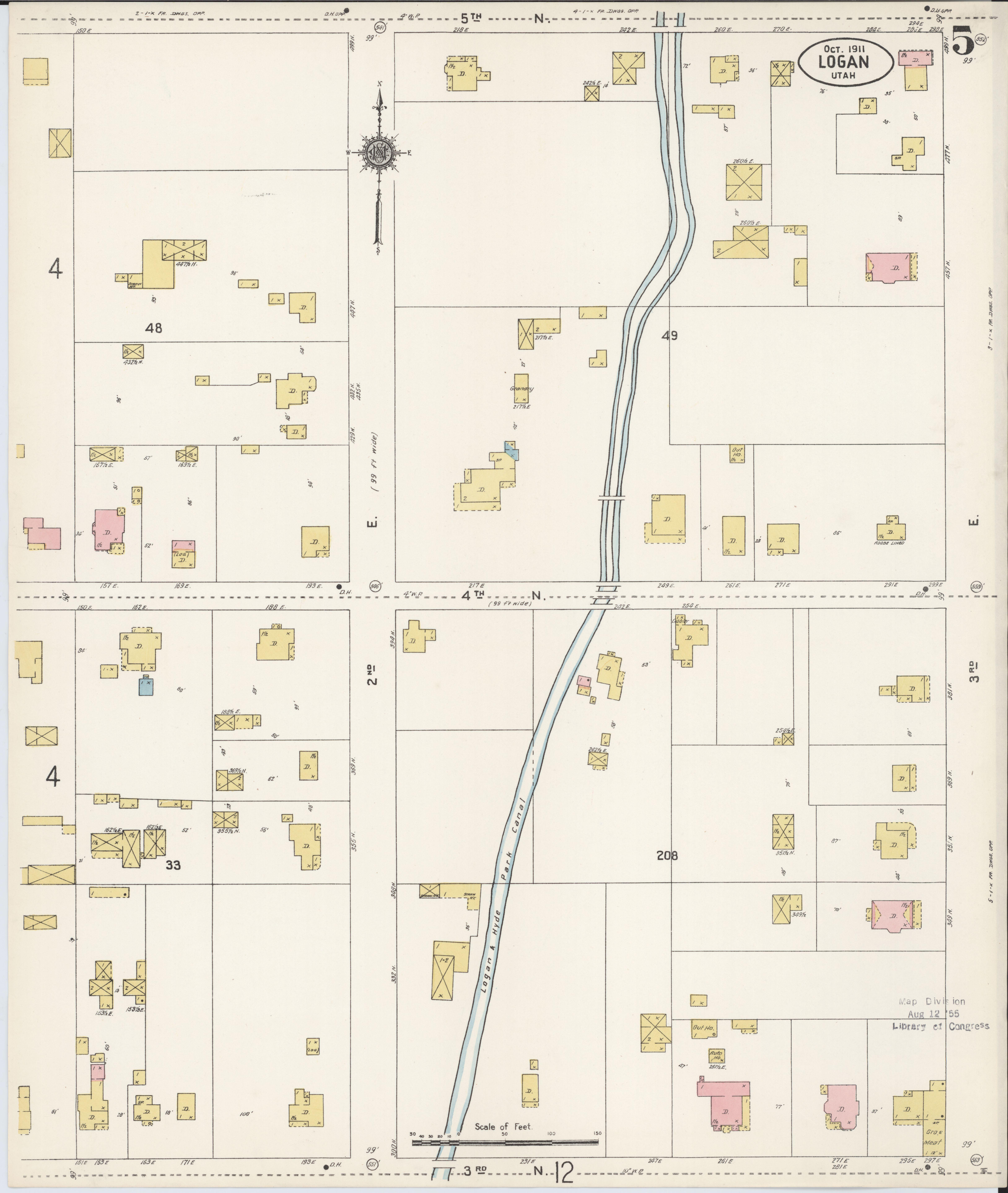 File Sanborn Fire Insurance Map From Logan Cache County Utah Loc