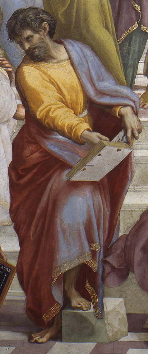 Parmenides. Detail from The School of Athens by Raphael.