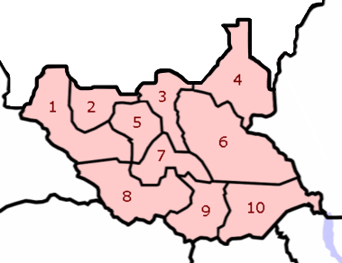 South Sudan states numbered.png