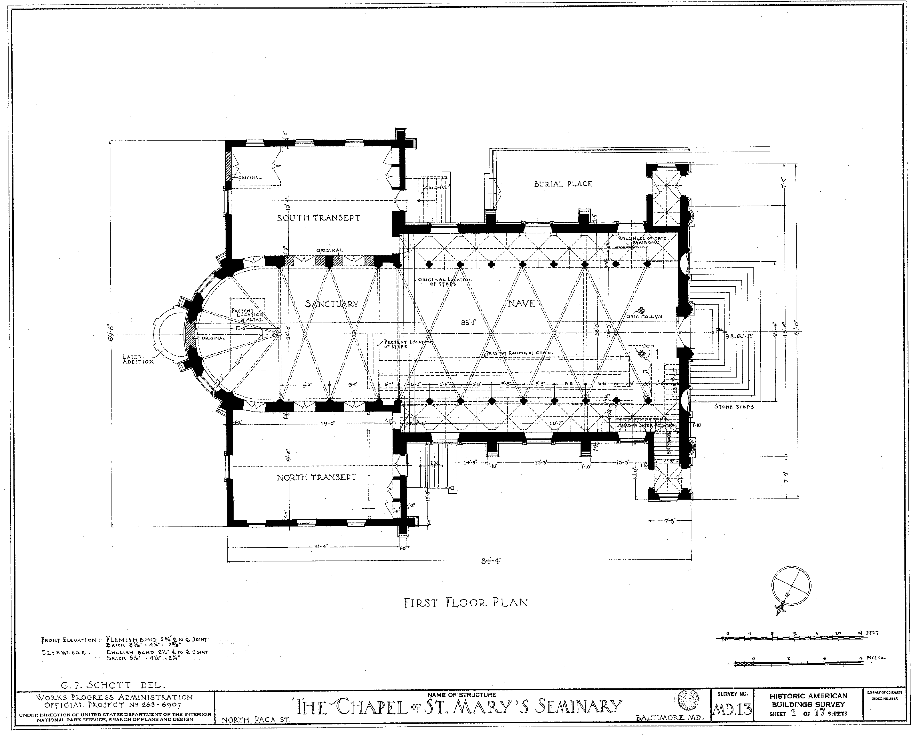 File:St Marys Seminary Chapel planpng  Wikimedia Commons - Church Building Floor Plans