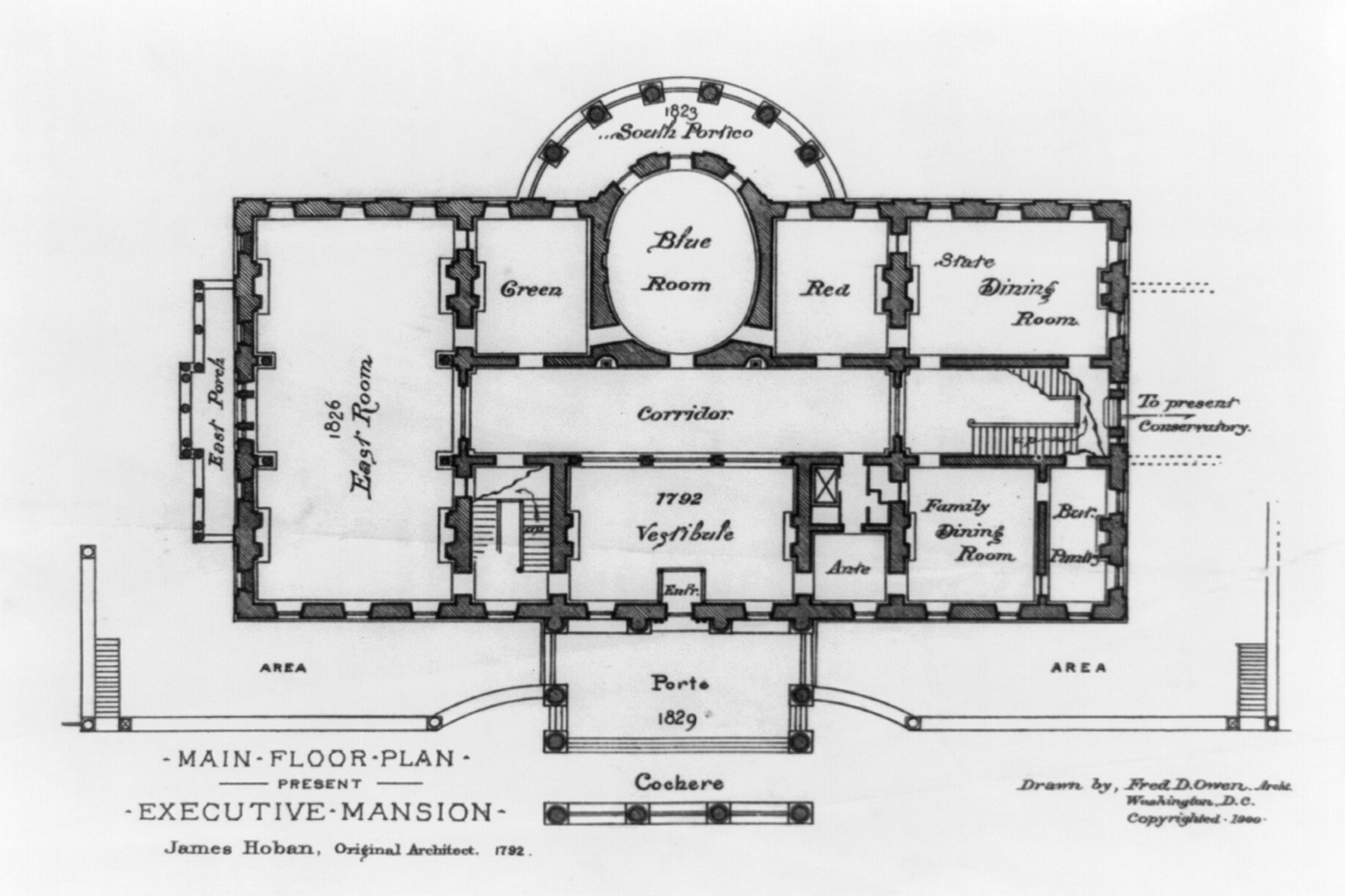 File:State floor plan - White House - 1900.jpg - Wikimedia Commons