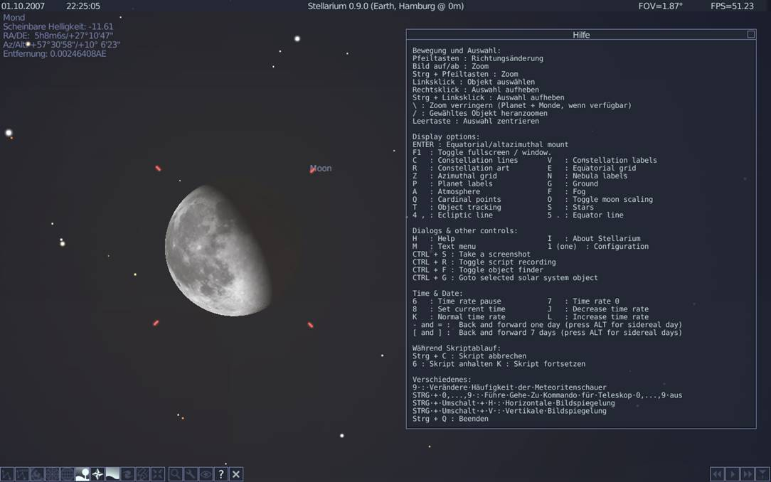 stellarium zoom