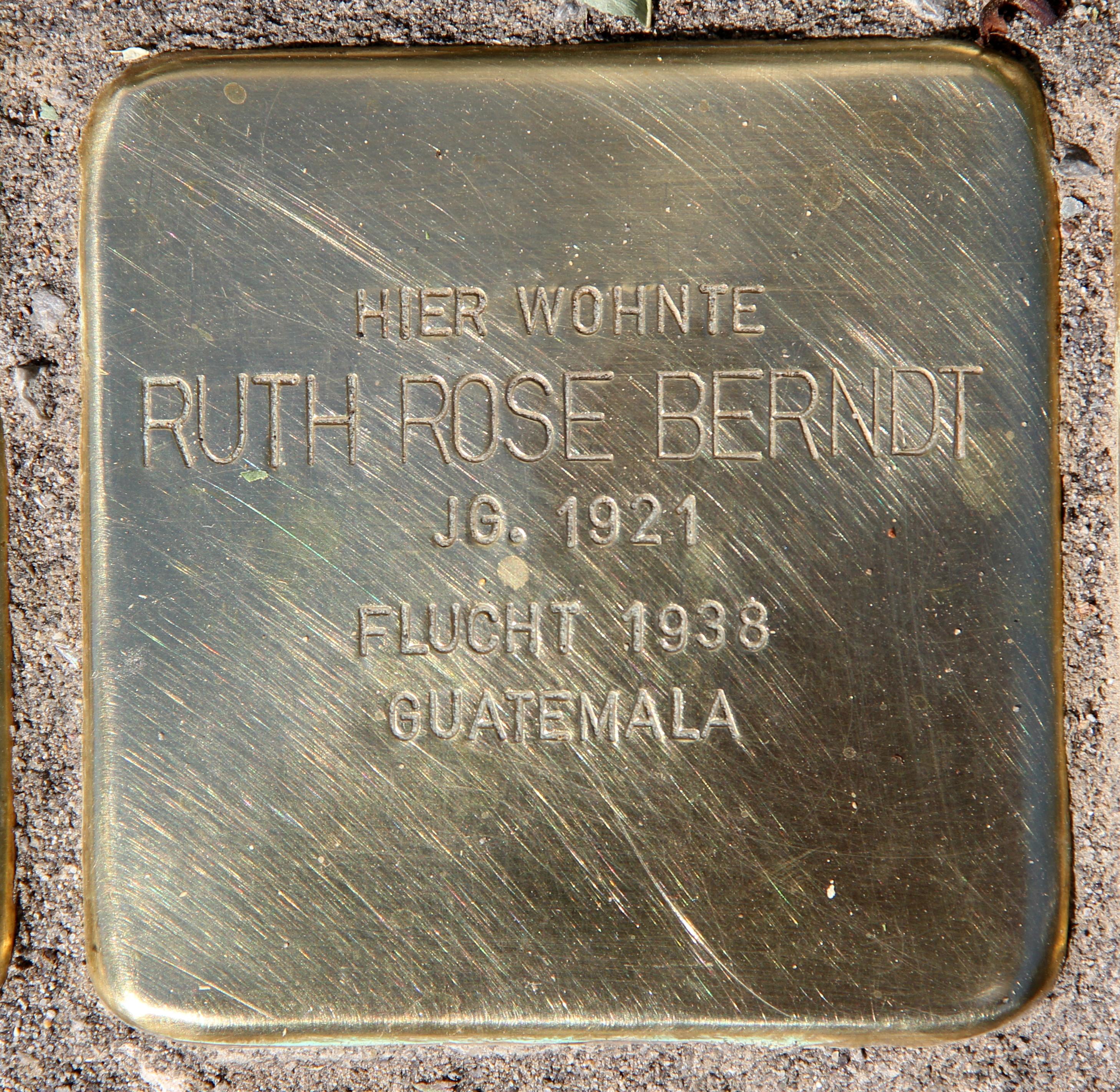 Datei Stolperstein Kuno Fischer Str 14 Charl Ruth Rose Berndt Jpg