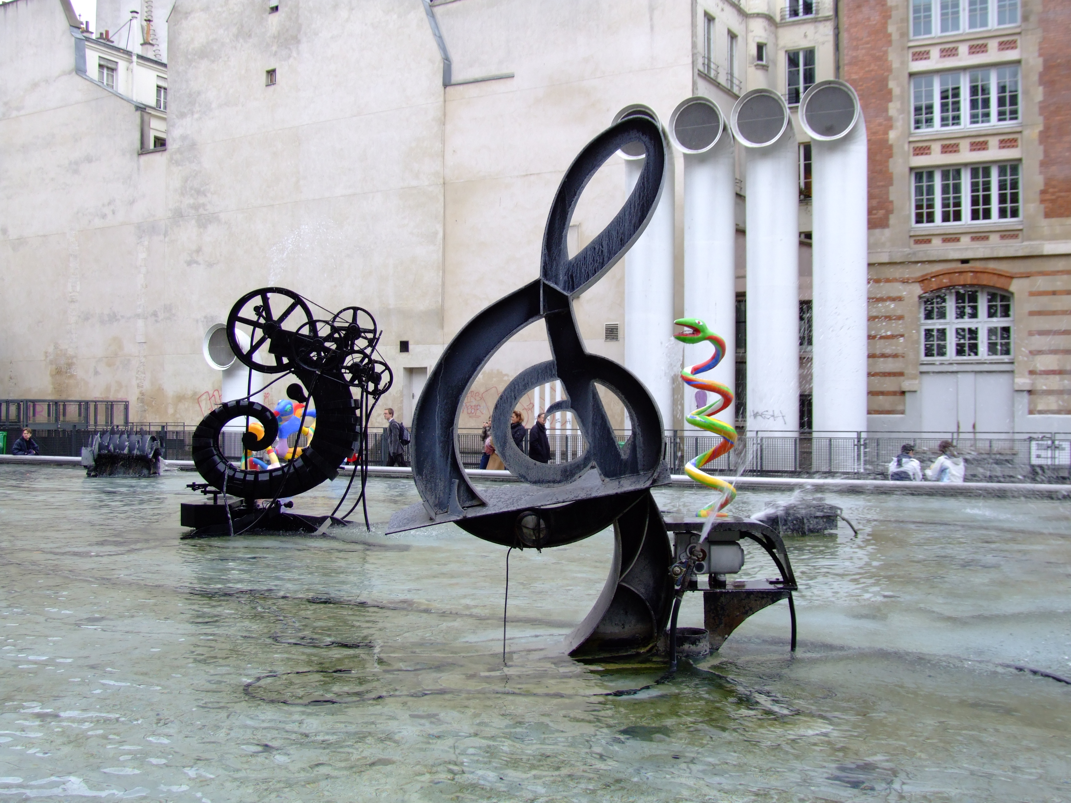 Photo of the Stravinsky Fountain