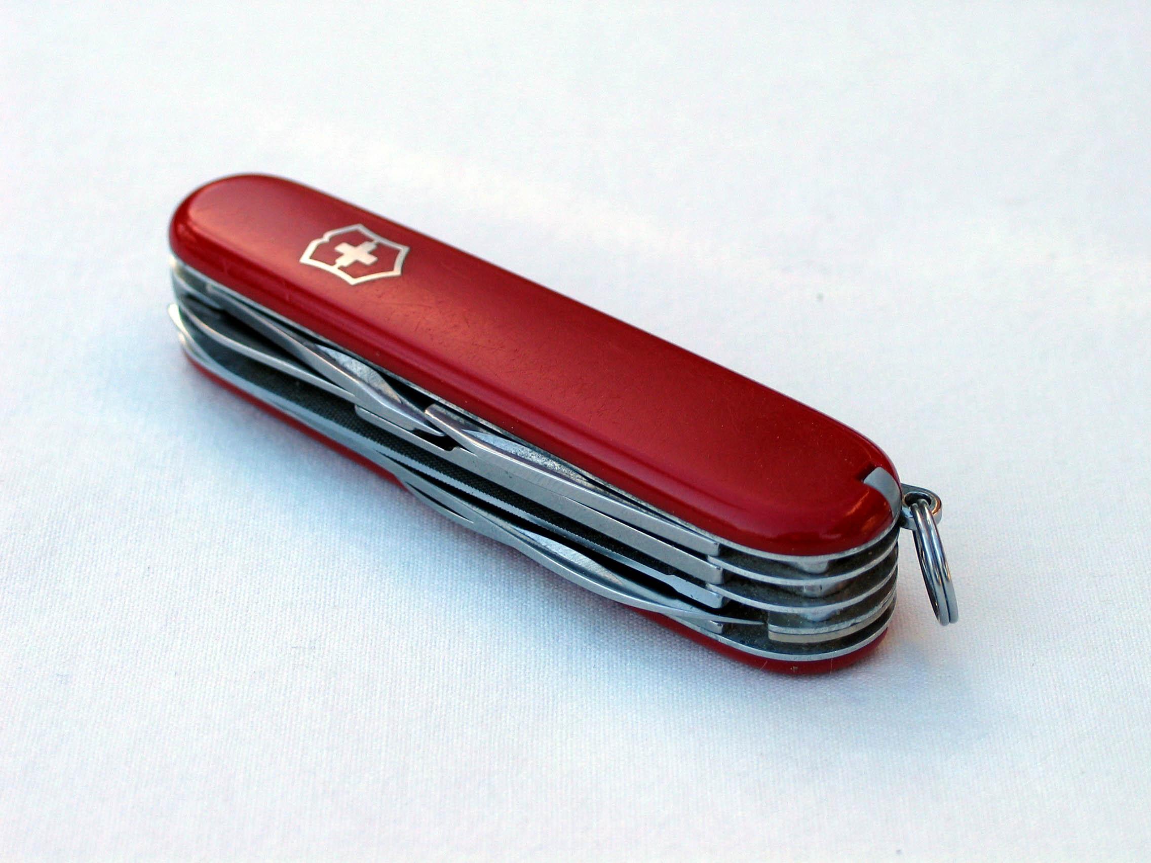 Swiss Army knife, photo taken in Sweden