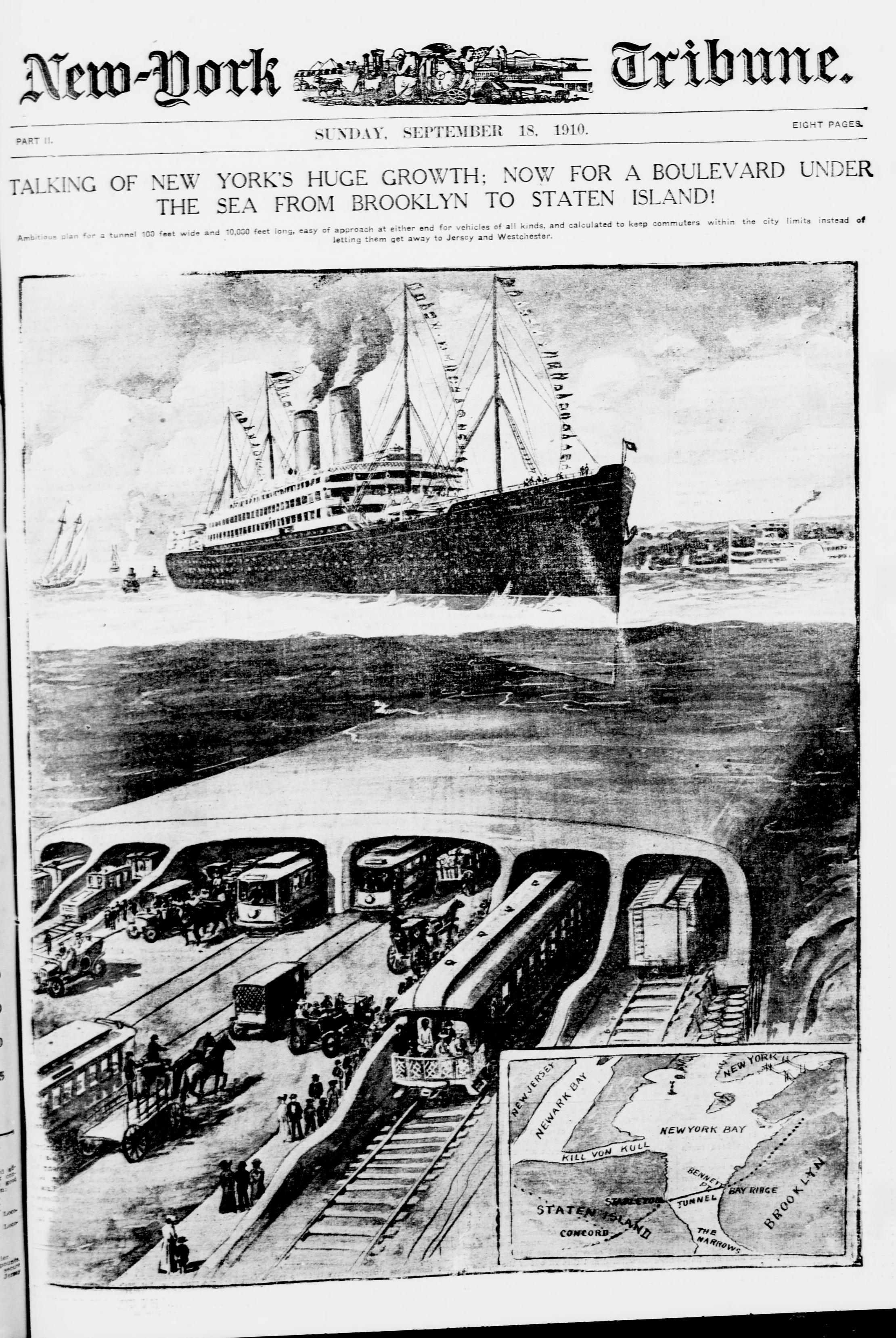 A BROOKLYN BLVD. BENEATH THE SEA (1910) - The Brownstone