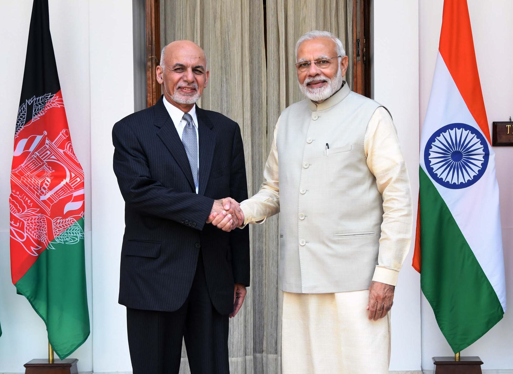 Fil The Prime Minister Shri Narendra Modi Meeting The President Of Afghanistan Dr Mohammad Ashraf Ghani At Hyderabad House In New Delhi On September 19 2018 Jpg Wikipedia Den Frie Encyklopaedi