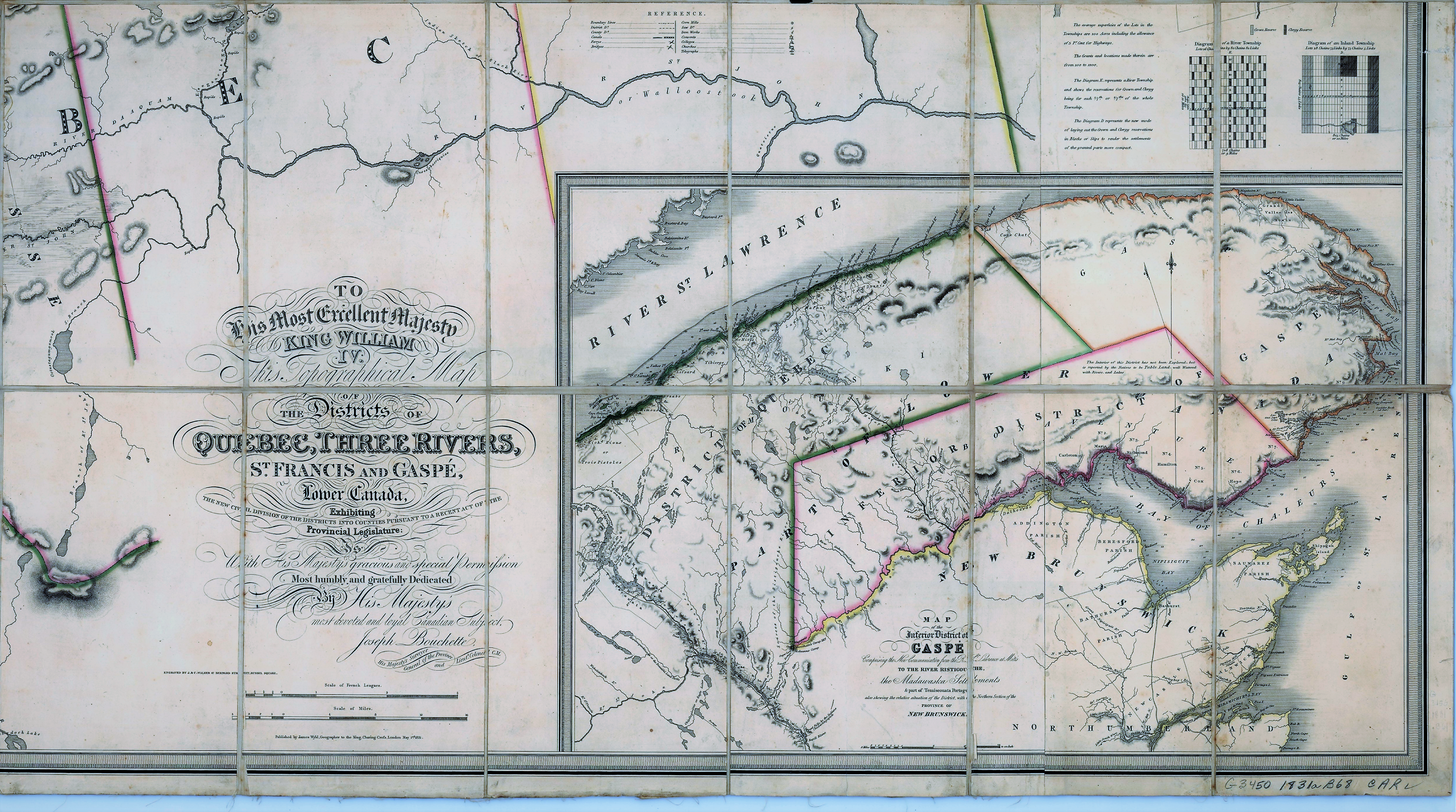 Gaspe Canada Map.File Topographical Map Of The Districts Of Quebec Three Rivers St