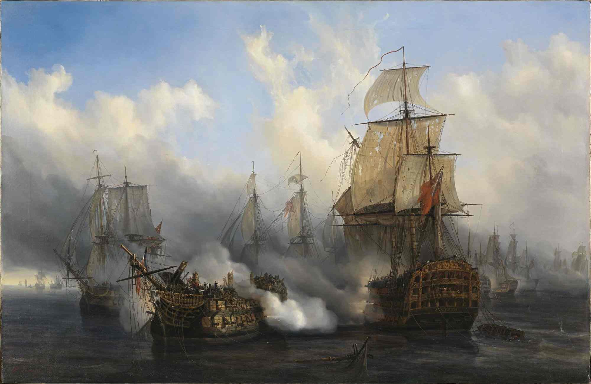 Depiction of Batalla de Trafalgar