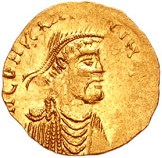 A tremissis coin of Constans II Pogonatos