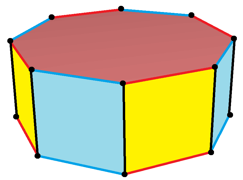 how to draw a truncated hexagonal prism