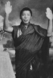 Trungpa at the age of 13
